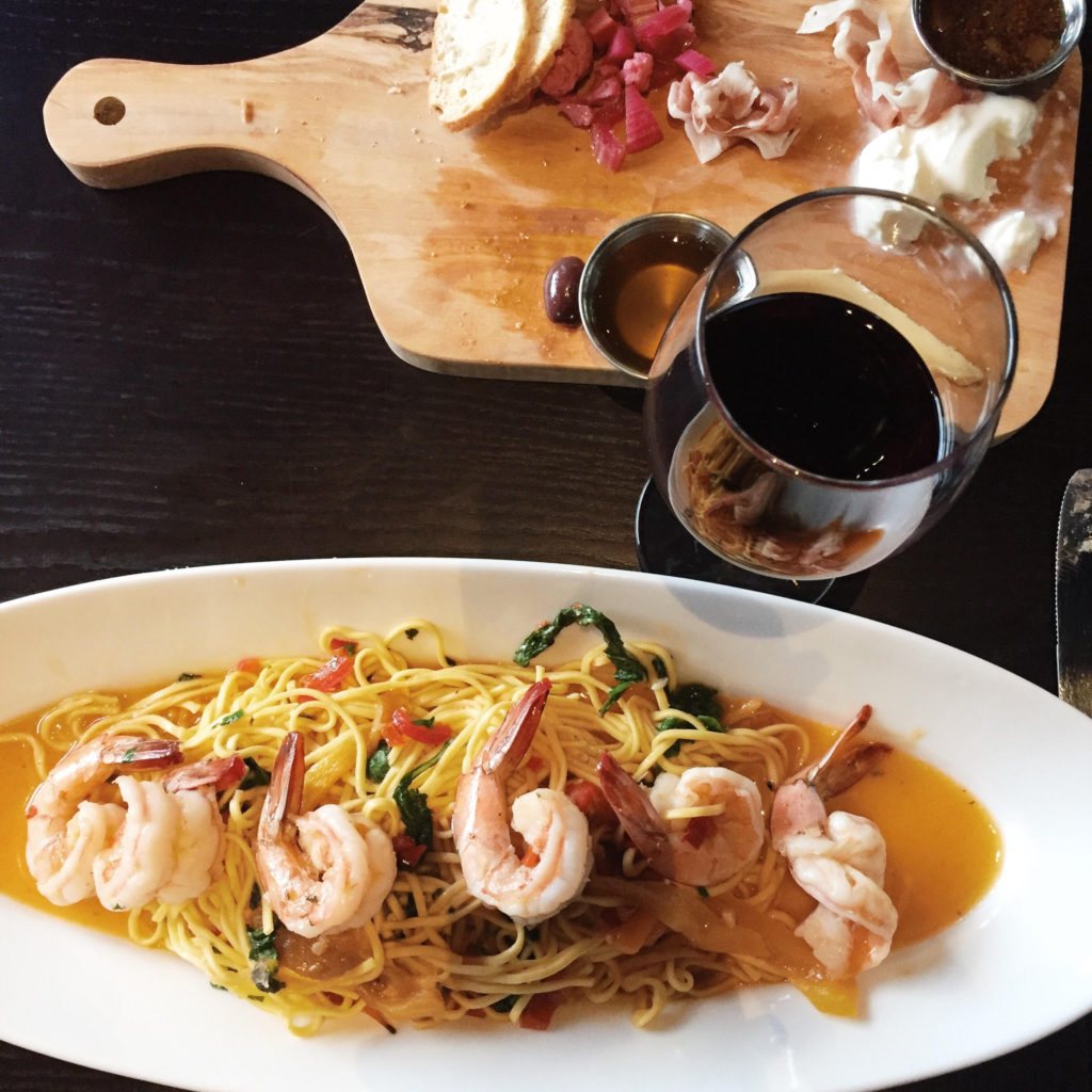Shrimp Pasta Palio Grand Rapids